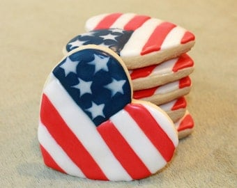 July 4th, Fourth of July Cookies, 4th of July, American Flag, America, Independence Day, Red White And Blue, Fireworks, BBQ, American Heart