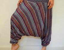 Yew Blue Harem Trousers - Hippie Boho Gypsy Yoga Hopper