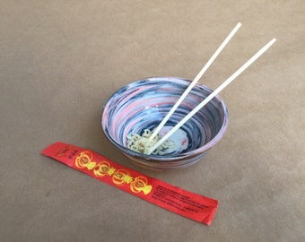 Agateware Cereal Bowl Soda-Fired - Porcelain