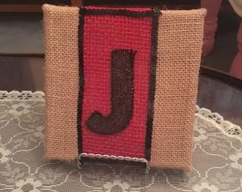 Personalized Burlap Stands or Pictures