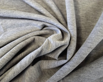Heather Grey French Terry Spandex Fabric by the yard RG2