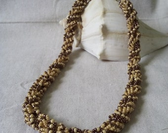 Double DNA Spiral Beaded Necklace