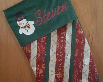 Stocking/Christmas/Quilted/Personalized