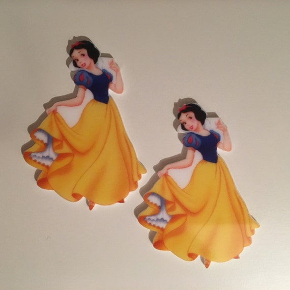 Reduced 2 Snow White Princess Planar Resin. Flatback cabochon bow centre embellishments laser cut shrinky dink topper brooch pin Jewellery