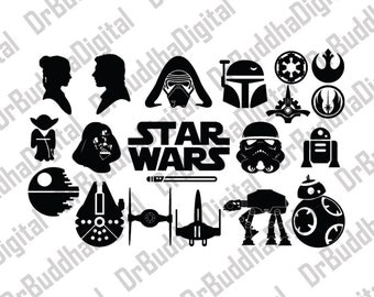 Sale! Star Wars SVG Collection - Star Wars DXF - Star Wars Clipart - SVG Files for Silhouette Cameo or Cricut