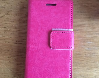 iPhone 5/5s Credit Card Phone Case - Hot Pink