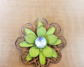 Whimsical flower clip