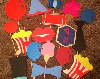 Circus/Carnival Photobooth Props