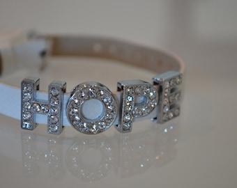Silver Bling Bracelet - Hope