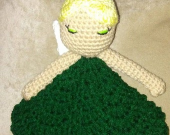 Tinkerbell Princess  Inspired Lovey Doll/Security Blanket
