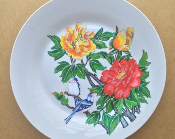 Hand Painted Plates (Birds and Flowers) It 1