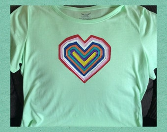 Heart Top Hand Painted