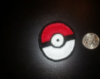 Small Pokeball Felt Pin