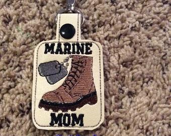 Marine Mom key fob