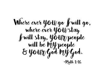Ruth 1:16 your God my God