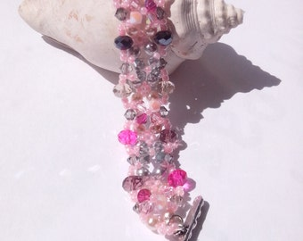 reyna swarovsky bracelet pink