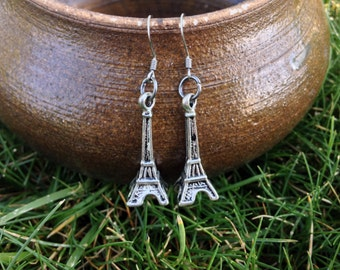 Eiffel Tower Charm Earrings