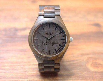 I Love You watch handmade engraved personal text Personalized Watch Gift for your Best man
