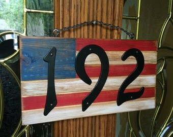 American Address Plaque