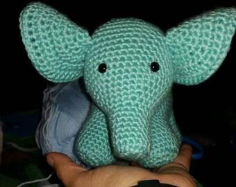 Small crocheted elephant