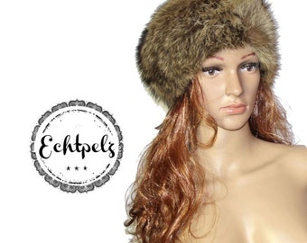 Vintage fur hat real fur hat fur Fox hat has Gr.S/M as new noble