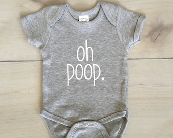 oh poop onesie