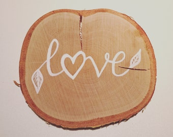 Medium Wooden Ring Personalised Sign