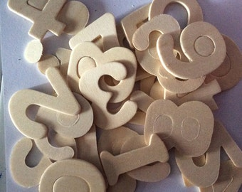 Wood numbers / embellishments / scrapbooking / craft supplies /