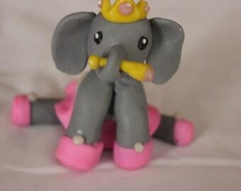 Elephant Princess Cake Topper Figurine