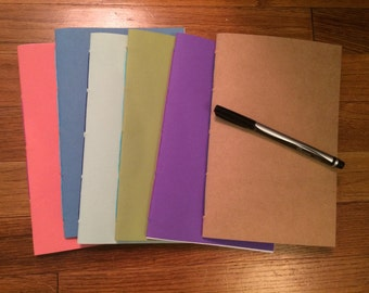 Colorful Blank Notebook Journal Cahier with Color-Coordinating Binding