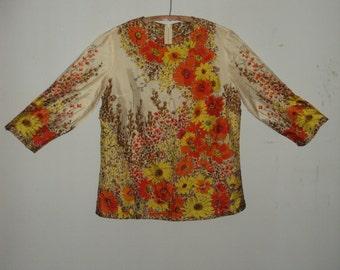 Vintage 1960s Vera Silk Blouse