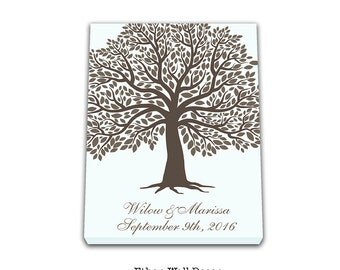 Alternative Canvas Tree Guest Book Canvas guest tree book idea signatures tree Bridal shower book guest print Guest sign in Fingerprint tree
