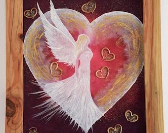 """Angel of Love""""  framed oil painting"""