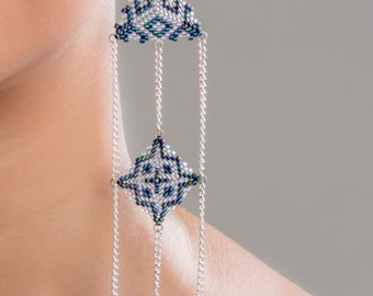 Morocco Inspired three-tier earrings