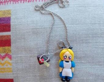 Necklace Alice in Wonderland & Peace of cake