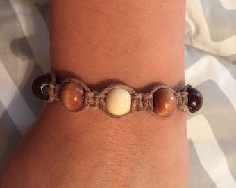 Hemp Beaded bracelet