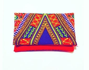 Dashiki red purse