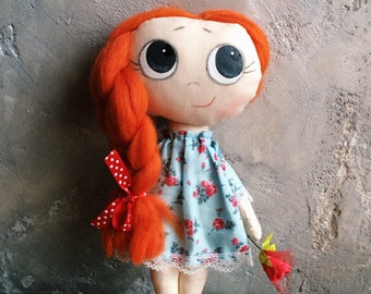 Doll with rose, Doll with big eyes, Doll in dress