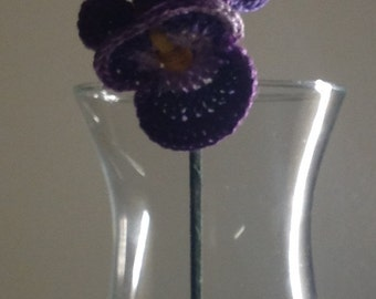 Crocheted Pansy