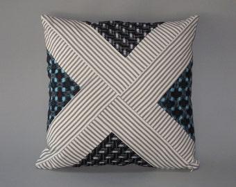 Geometric Kasuri Slip Cover #4