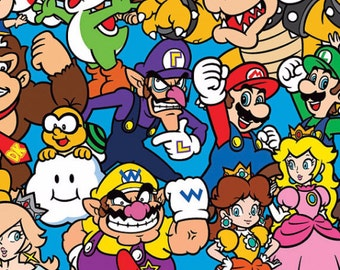 Nintendo Super Mario Characters Fabric From Springs Creative