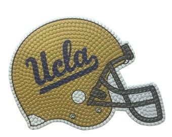 UCLA Football Helmet made out of Bottlecaps