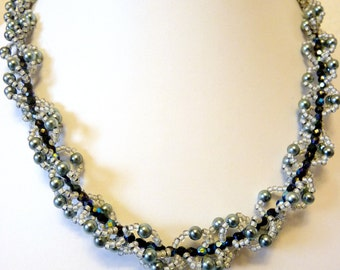 SILVER WAY by COCORONA * Collier * necklaces * jewelry * Pearl Jewelry