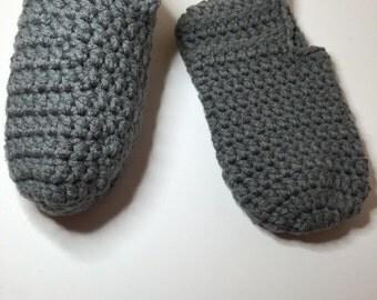 Gray Handmaded Warm & Cozy Crochet footies