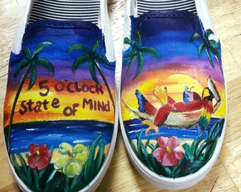 Jimmy Buffet Hand Painted Shoes