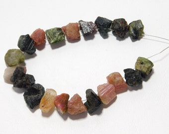 Tourmaline Gemstone Rough Beads Natural Crystal Shape