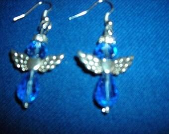 Angel crystal earrings
