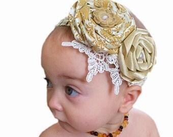 Double Rose Headband (gold)