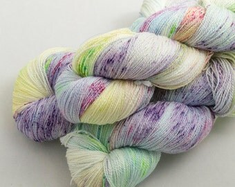 Meadow on Catwalk, lace weight handdyed yarn, indie, indiedyed, 17.5 micron merino, silk