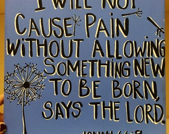 Dandelion Cartoon Bible Verse Quote Canvas Painting